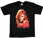 CONFESSIONS TOUR - USA ITINERARY RED HEAD T-SHIRT
